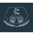 refreshing beer design vector image