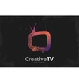 TV logo Creative tv logo design Media design vector image