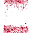 Valentine frame design with space for your text vector image vector image