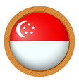 badge design for singapore flag vector image