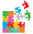 colorful puzzle vector image vector image