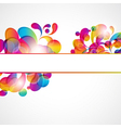 Abstract bright circles background vector image vector image