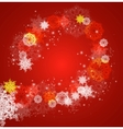 Abstract Christmas frame with snowflakes vector image