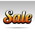 Sale Title for Labels on Light Background vector image