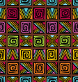 afrikan pattern vector image vector image