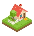 House Building Private Property Tree Icon Real vector image vector image