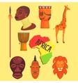 African Symbols Set vector image