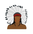 American indian icon vector image
