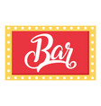 bar sign icon flat style vector image
