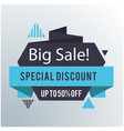 big sale special discount up to 50 off origami ve vector image