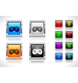 buttons for web design vector image