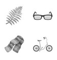 clothing medicine and other monochrome icon in vector image