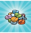 colorful medical pills sports doping and drugs vector image
