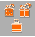 gift icons colorful design concept with shadow vector image