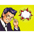 male business coach or school teacher in glasses vector image