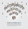 people wifi sign vector image