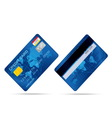 popular blue premium extended business credit card vector image