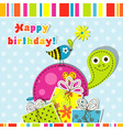Scrapbook birthday greeting card vector image
