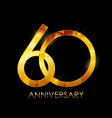 template 60 years anniversary congratulations vector image