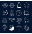 Buddhism icons set outline vector image vector image