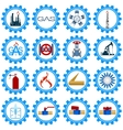 Set icons gas production industry vector image vector image