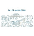 Doodle style design concept of retail commerce and vector image
