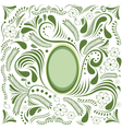Easter green card vector image vector image
