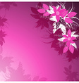 Decorative Pink Floral Background vector image