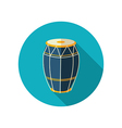 Drum flat icon Summer Vacation vector image