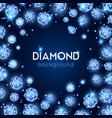 gem diamond background vector image