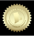 Gold star label Rhode Island vector image