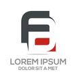 lettermark f combination a company logo vector image