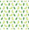 lime seamless pattern with juicy limes and leaves vector image