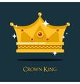 Royal crown for king or princess queen gold tiara vector image