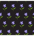 Watercolor seamless pattern - blue flowers on a vector image