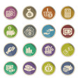 hand and money icon set vector image