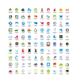 Usable Business icons Set Set of 100 icons vector image vector image