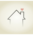 Love the house vector image vector image