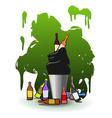 Full Recycle bin vector image vector image