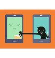 Smart Phone Hacker vector image
