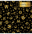 Seamless gold vintage pattern with curved letters vector image