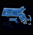 counties of massachusetts vector image