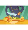 Slicing Vegetables vector image