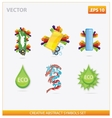 abstract design and creative eco sign vector image