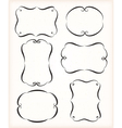 Calligraphic frames set vector image