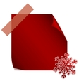 Red paper snowflake over red sticker vector image