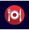 Restaurant menu symbol such logo food cafe vector image