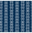 seamless blue and white ethnic pattern vector image