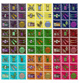 set of flat shading style icons gym equipment vector image
