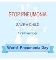 world pneumonia day vector image